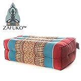 Zafuko Yoga, Meditation, Kundalini and Pilates Cushion (Zafu) block, bolster, floor pillow, prop 100% organic Kapok Fiber Filling – Small Block (Burgundy Blue)
