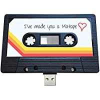 (16GB) USB Mix tape, Retro, Valentines, Gifts for Her, Gifts for Him, Thoughtful, Flash Drive, Cassette, Quirky Gift, Music, Cool, Cute, Love, Present, Boyfriend, Girlfriend (16GB)