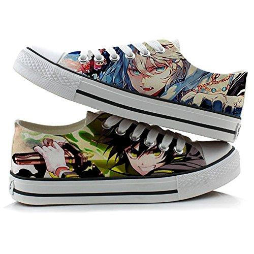 Serafijn Van Het Einde Yuichiro Hyakuya Mikaela Hyakuya Cosplay Schoenen Canvas Schoenen Sneakers Groen
