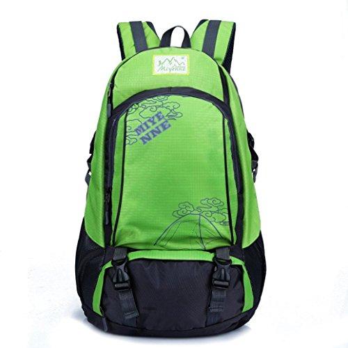 Clode® Hombres Mujeres Mochila para portátil Notebook Computer School bolsa de viaje Mountaineer Verde