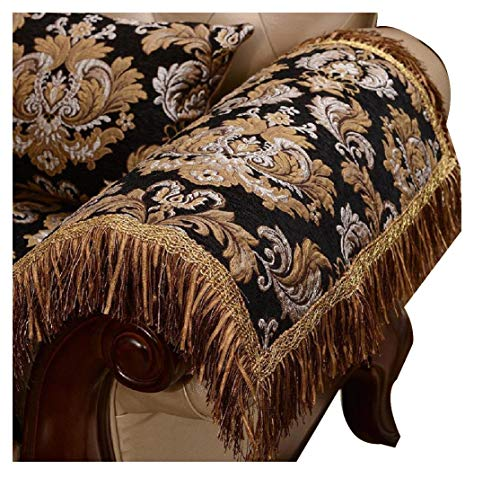 Sideli Luxury Sofa Arm Chair Pad with Tassel Non-slip for Leather Sofa and Fabric Sofa(2pc-20x24