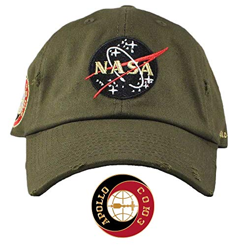 FIELD GRADE NASA Hat Special Edition Patch (Olive Gold Distressed) by FIELD GRADE