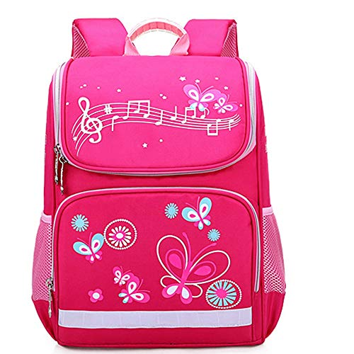 Girl Backpack Fashion Large Capacity Waterproof Printed Rucksack Boys Cartoon Pattern Bookbags (S, Hot Pink) ()