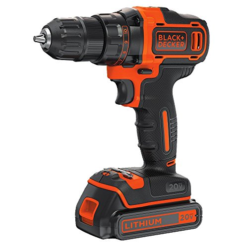 BLACK+DECKER 20V MAX Cordless Drill/Driver Variable Speed (BDCDD220C) (And Black 20v Decker Drill)