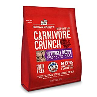 Stella & Chewy's Freeze-Dried Raw Carnivore Crunch Cage-Free Turkey Recipe Dog Treats, 3.25 oz bag