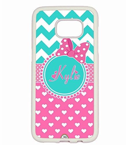 Galaxy S7 Edge Case, ArtsyCase Teal Chev - Pink Polka Dots Heart Shopping Results