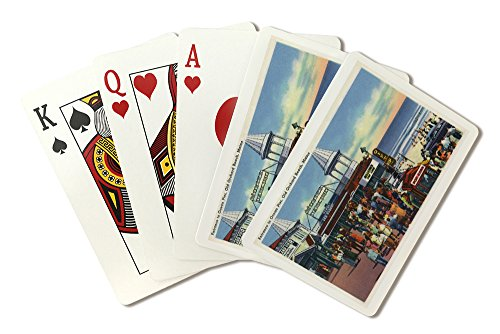 (Old Orchard Beach, Maine - Ocean Pier Entrance Scene (Playing Card Deck - 52 Card Poker Size with Jokers))