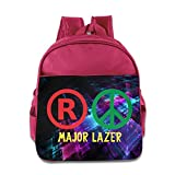 Jade Custom Personalized Major Pop Lazer Band E3 Children Schoolbag For 1-6 Years Old Pink