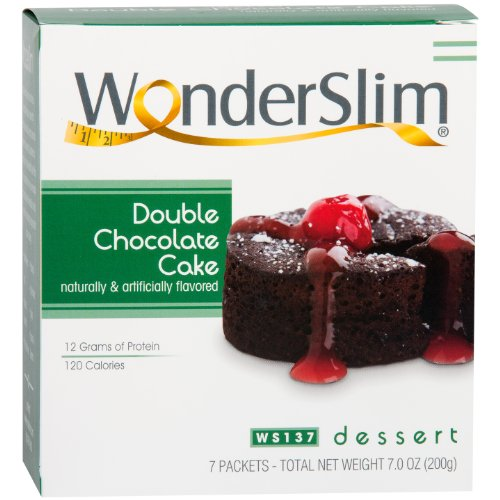 WonderSlim Low-Carb High Protein Dessert/Double Chocolate Cake Mix (7 Servings/Box) - Low Carb, Trans Fat Free by WonderSlim (Image #5)