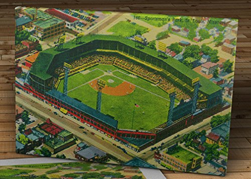 (Vintage Sportsman's Park Postcard - St. Louis Cardinals - Canvas Gallery Wrap - 16 x 11)