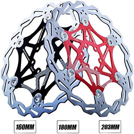 ロードバイクディスク ほとんどの自転車ロードマウンテンバイクBMX MTB 160mm 180mm 203mm用のステンレス鋼ブレーキローター6ボルトアルミ合金自転車ディスクブレーキローター (色 : ブラック, サイズ : 160mm)
