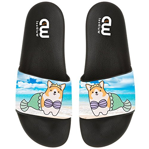 Sandal Shoes Summer Outdoor Cute Slide For Women Comfort Mermaid Cartoon Beach Corgi Women Girl Slippers Indoor 6OzwtzFxq