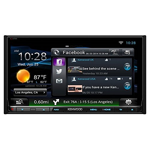Kenwood eXcelon DNN992 6.95 Inch Touchscreen Navigation Receiver by Kenwood