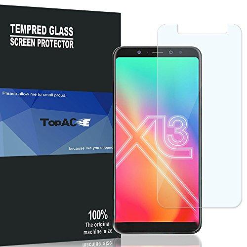 BLU Vivo XL3 Plus Screen Protector, TopACE 9H Hardness [Case Friendly][Anti-Scratch][Bubble Free] Tempered Glass for BLU Vivo XL3 Plus (2 Pack)