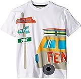 Fendi Kids Baby Boy's Short Sleeve Logo Surf Van Graphic T-Shirt (Toddler) White 5 Years
