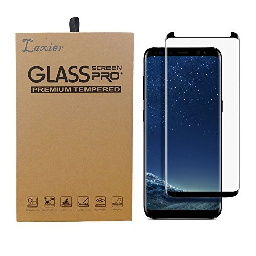 Galaxy S8 Plus Tempered Glass Screen Protector, 3D Curved Case Friendly Edge to Edge Clear Full Coverage Protective Film Cover for Samsung S8+ Phone (Just for S 8+, not for S 8)