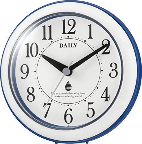 리듬 시계치 와 ・ 벽시계 방적 방진 아날로그 아쿠아 파크DN 청 DAILY ( 데일리 ) 4KG711DN04