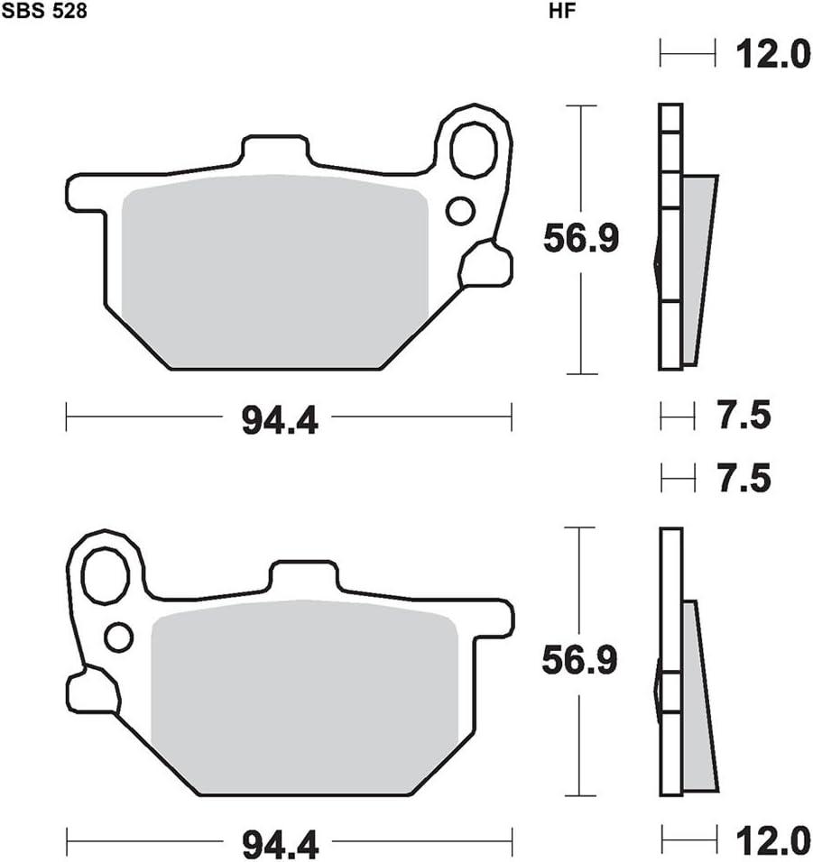 HF-Keramik Yamaha XS 400 SE Bj 1980-1981 SBS Bremsbelag VORNE Links