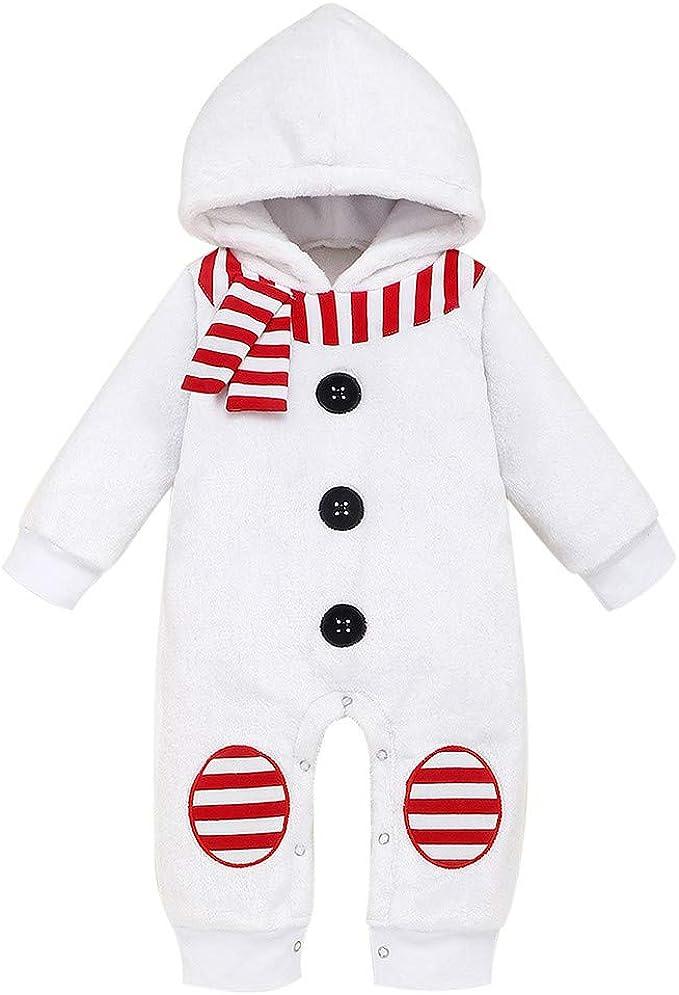 BBSMLIN 0-24 Meses Bebe Niña Navidad Disfraz Ropa Mameluco ...