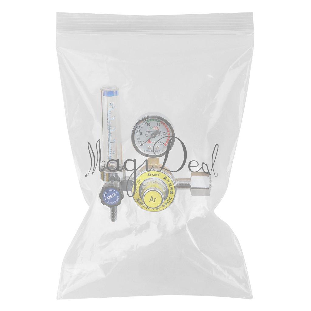 MagiDeal Reductor De Presión Argón Mig Tig Control De Flujo Regulador Gas Soldadura De Calibre Motor: Amazon.es: Bricolaje y herramientas