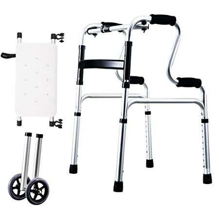 Walking Frame Walker Ruedas Plegables y Ligeras para Conducir ...