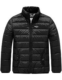 Wantdo Boy's Lightweight Down Jacket Packable Stand Collar Outwear
