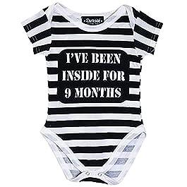 Darkside Ive Been Inside Baby Bodysuit Black/White