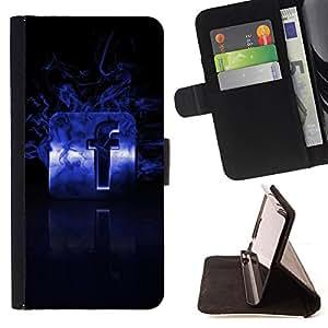 BullDog Case - FOR/LG OPTIMUS L90 / - / Flaming F /- Monedero de cuero de la PU Llevar cubierta de la caja con el ID Credit Card Slots Flip funda de cuer