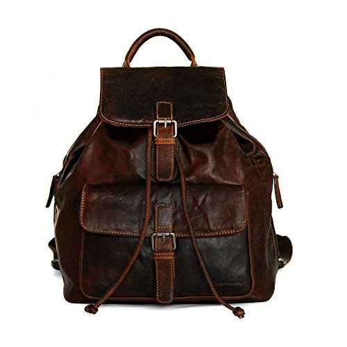 Jack Georges Voyager Drawstring Backpack 7517 (BROWN) by Jack Georges