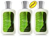 Bath & Body Works Rainkissed Leaves Body Lotion Set of Three (8oz Each) For Sale