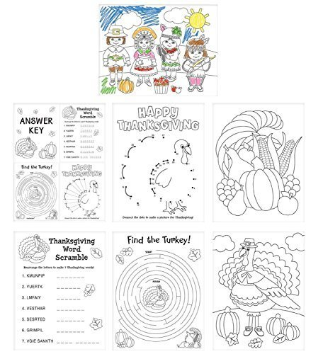 Thanksgiving Activity Sheets 30 Count