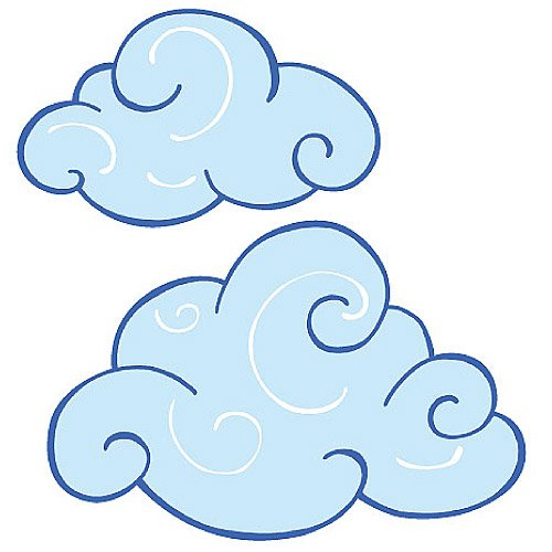 Wallies 12250 Swirly Clouds Wallpaper Cutout - Wallies Wallpaper Cut Out