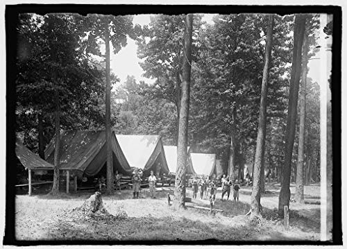 Vintography Reproduced 8 x 10 Photo of: Boys Scouts, Camp Roosevelt, 7/9/25 1925 National Photo Company