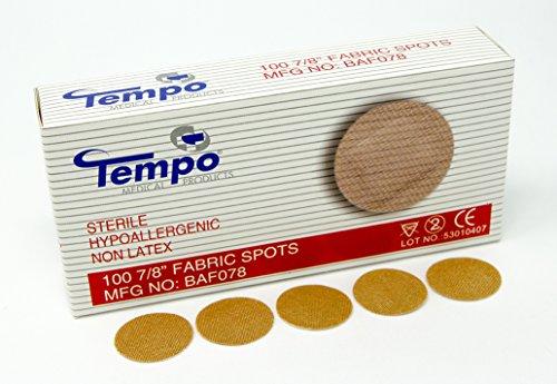 "Tempo Adhesive Fabric Spot Bandage 7/8"", Sterile, Non Latex, Hypoallergenic, 100 EA/BX & 60 BX/CS, BAF078 ()"
