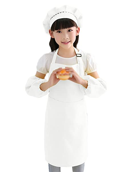 CAOLATOR 3Pcs Delantal de Infantil Blanco Para la Cocina Hornear Museo de  Arte de Pintura 8b40f63450d