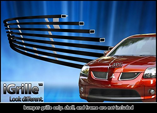 Black Stainless Steel eGrille Billet Grille Grill For 2004-2006 Mitsubishi Galant Ralliart Bumper Insert