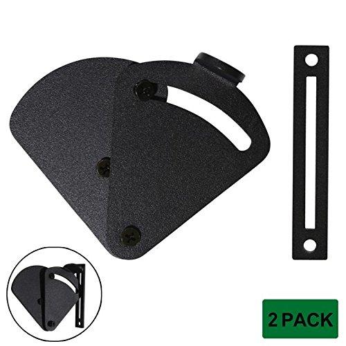 Probrico 2 Pack Rolling Sliding Wood Barn Door Latch Lock Hardware | Sliding Pocket Door Latch Privacy Lock | Rustic Black Gates Garage Shed ()