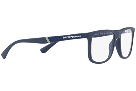 97dbd9f0 EMPORIO ARMANI Eyeglasses EA3112 5575 Matte Blue at Amazon Men's ...