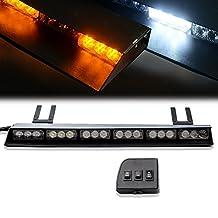 "TURBOSII 36 LED 19"" Traffic Advisor Emergency Warning Directional Light Bar Kit Vehicle Strobe Flash Mini Interior LED Dash Light Bar,YELLOW"