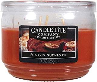 product image for Candle-Lite Everyday Scented Pumpkin Nutmeg Pie 3-Wick Jar Candle, 10 oz, Orange