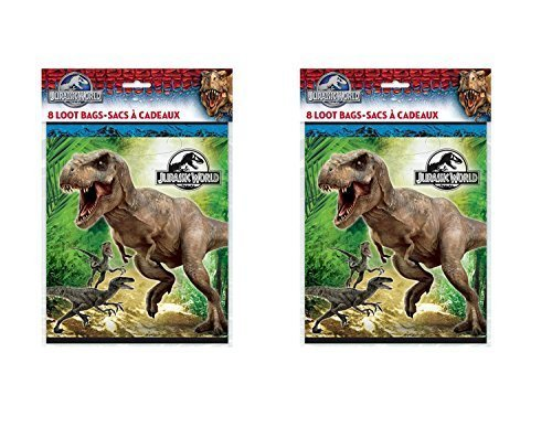 The New Jurassic World Party Loot Bags ~ 16 Ct (Party Supplies Uk)