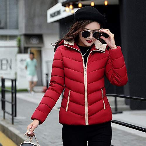 Outwear Chaud Pardessus Automne Coton Décontractée Fantaisiez Vin Épais Manteaux Manteau Capuche À Jacket Rouge3 Longue Hiver Manche Femme Veste 76za16nqxw