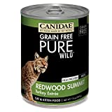 CANIDAE Grain Free PURE WILD: Redwood Summit Cat Wet Food with Turkey, 13 oz (12-pack)