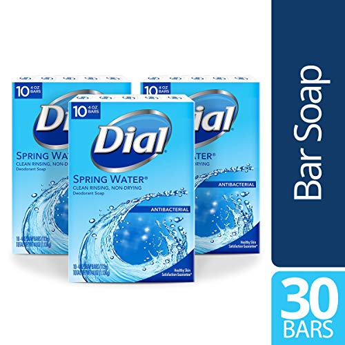 Dial Antibacterial Bar Soap, Spring Water, 30 Count from Dial