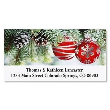 amazon com ornament wish personalized christmas return address