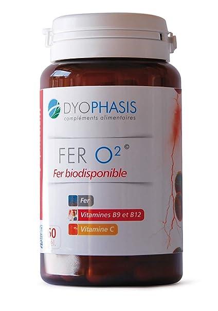 Hierro, vitamina C, vitamina B9,vitamina B12, hierro bisglycinate 60