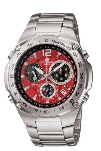 CASIO Edifice EF-529D-4AVEF - Reloj cronógrafo de cuarzo con correa de  acero inoxidable para hombre (con cronómetro c4563b6bc769