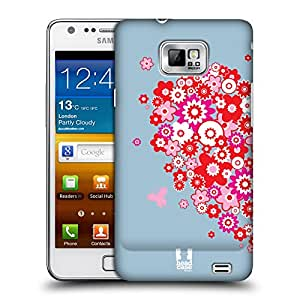 Head Case Designs Left Piece of Heart Couple Cartoon Protective Snap-on Hard Back Case Cover for Samsung Galaxy S2 II I9100