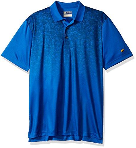 Jack Nicklaus Mens Majors Short Sleeve Printed Polos