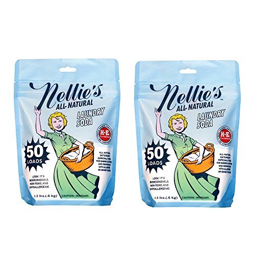 Nellie's NLS-50 All Natural Laundry Soda, 50 Load Bag (Pack of 2)